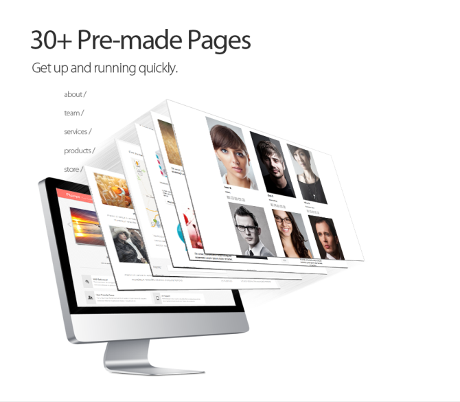 30+ Pre-made Website Template Pages